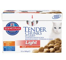 Hills Science Plan™ Feline Adult Light Tender Chunks in Gravy Original Multipack 12 x 85g