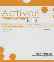 Activon Tulle 10 x 10 cm (Pack of 5)