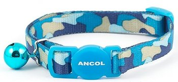 Ancol Cat Safety Collar Camouflage Blue x 3