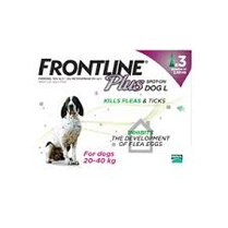 Frontline Plus Spot On For Large Dogs 20-40kg 3 Pipettes