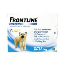 Frontline Plus Spot On For Medium Dogs 10-20kg x 6 Pipettes