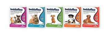 Imidaflea 40mg Spot on Solution Small Cats, Rabbits and Dogs <4kg 3 Pipettes