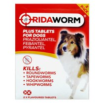 RidaWorm Dog Tablets 2 Pack