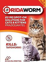 RidaWorm Spot On For Cats and Kittens 20mg x 2 Pack